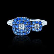 """Just Because"" Small Sapphire & Diamond Ring"