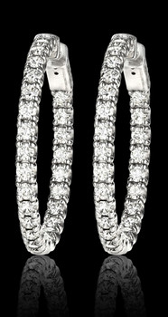 Large Hoop Earrings With Diamonds all around. They are elegant, beautiful, classy, sophisticated.