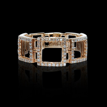 """Just Because"" Triple Square Diamond Ring"