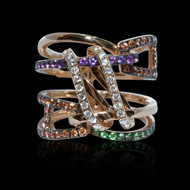 Beautiful Connections Diamond and Ruby Ring