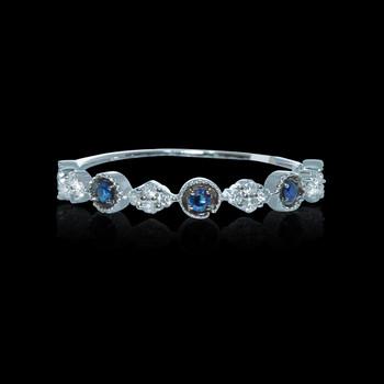 """Just Because"" Sapphire & Diamond Ring"