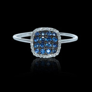 """Just Because"" Diamond and Sapphire Fair & Square Ring"