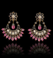 Your Royal Highness Fanfare Diamond & Pink Tourmaline Earrings