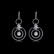 Lotus Diamond Earrings
