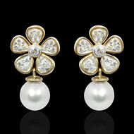 Coeur Pearl & Diamond Earrings