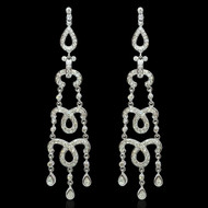 Diamond Lace Chandelier Earrings
