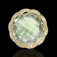 Candylicious Bubbles Diamond & Green Amethyst Cocktail Ring