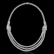 Triple Line Eternally Beautiful Brooch Necklace