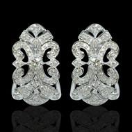 Eternally Beautiful Diamond Garland Hoops