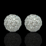 The World Revolves Around Me Diamond Ball Earrings