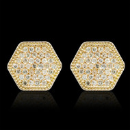 """Just Because"" Hexagon Diamond Earrings"