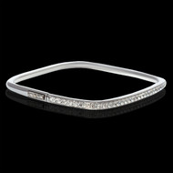 Be Square Diamond Bangle Bracelet