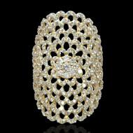 Lattice Diamond Cocktail Ring