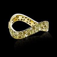 Bubbles Diamond and Peridot Cuff Bracelet