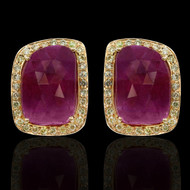 Ruby & Diamond Eternally Beautiful Earrings