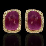 Ruby & Diamond Eternally Beautiful Earrings
