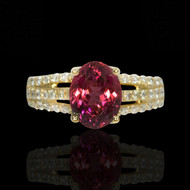 Tourmaline  & Diamond Passion Ring