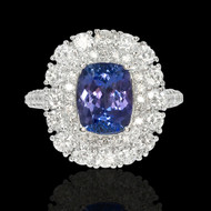 Tanzanite & Diamond Aura Ring
