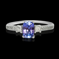 Tanzanite and Diamond Zeal Ring
