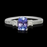 Tanzanite and Diamond Zeal Ring