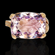 Pink Amethyst & Diamond Zeal Ring