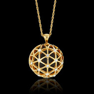 The Catalyst Necklace - Custom Bespoke pendant to tell the story of The Resolution Project.   A spherical shape, flat in the back - the necklace represents the global impact and reach or the non profit.  100% of the net proceeds to the non-profit The Resolution Project