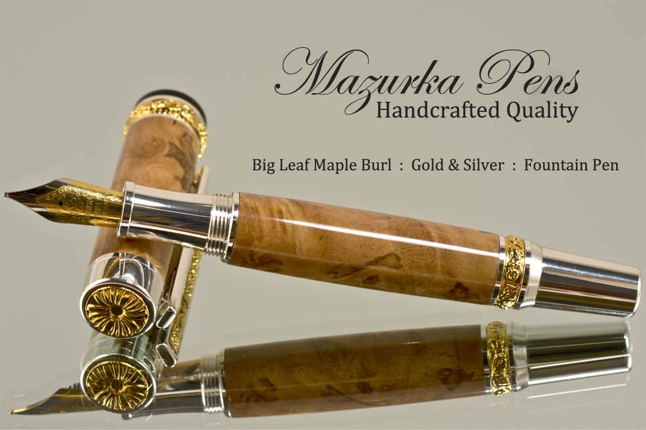 Big Leaf Maple Burl Pen Example
