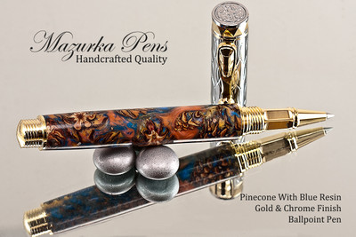 Teal & Pinecone Rollerball