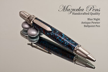 Blue Night Resin with Antique Pewter Finish