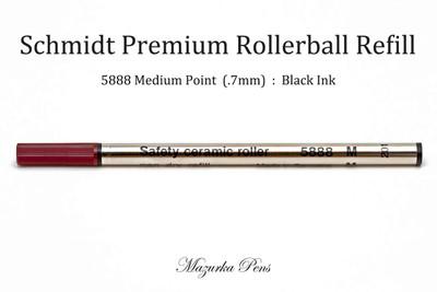 Schmidt 5888 Safety Ceramic Rollerball Refill, Medium Point (.7mm), Black Ink