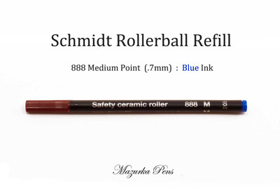 Schmidt 888 Medium Point Blue Ink Rollerball refill