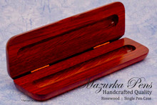Rosewood hinged pen / pencil box or pen case.  Opens to reveal your handmade pen.