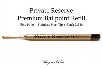 Private Reserve Ink, Ballpoint Refill, Black - GEL