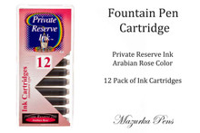 Fountain pen ink cartridges - Arabian Rose color, Pack of 12 cartridges