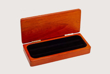 Rosewood Hinged Pen Display Box Case - Single or Double Pen