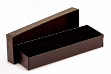Black Textured Pen or Pencil Gift Box / Case holds Singe Pens