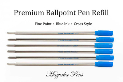 Private Reserve Ballpoint Refill Blue Ink Fine Tip - 6 Pack