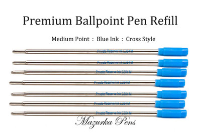 Cross style Private Reserve ink refill, blue ink medium point, 6 Pack