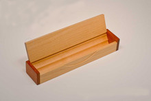 Maple and Walnut Hinged Pen Box Case - Single Pen