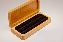 Maple Hinged Pen Display Box Case - Single or Double Pen