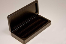 Black Hinged Pen Display Box Case - Single or Double Pen