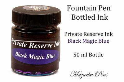 Black Magic Blue Color - Private Reserve Fountain Pen Ink - 50ml bottle of liquid fountain pen ink