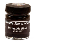 Private Reserve Fountain Pen Liquid Bottled Ink - Invincible Black color, Dries FAST, Fast Drying ink