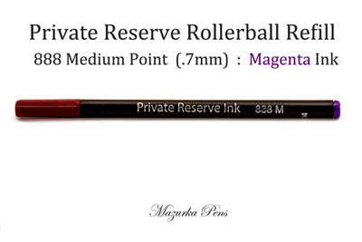Private Reserve Ink Rollerball Pen Refills, Rainbow Colors, Magenta, Medium Ink