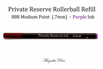 Private Reserve Ink - Rollerball Pen Refill, Purple Ink, Rainbow Colors, Medium Point