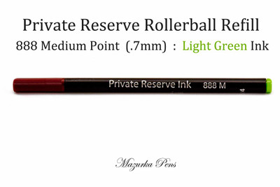 Private Reserve Rollerball Ink - Rainbow Colors, Light Green, Medium Point