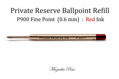 Private Reserve Ballpoint Pen Parker Style Refill - Red Ink, Fine Point
