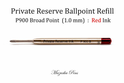 Parker Style Ballpoint Pen Refill - P900 Ballpoint Pen - Broad Point (1.0 mm), Red Ink