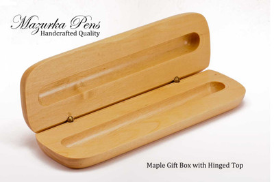 Maple hinged pen / pencil box or pen case.  Opens to reveal your handmade pen.