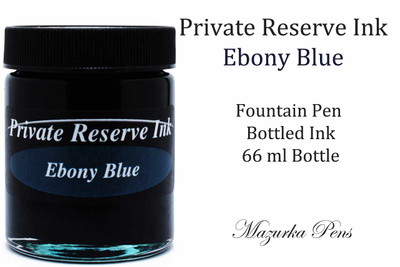 Private Reserve Fountain Pen Liquid Bottled Ink - Ebony Blue
